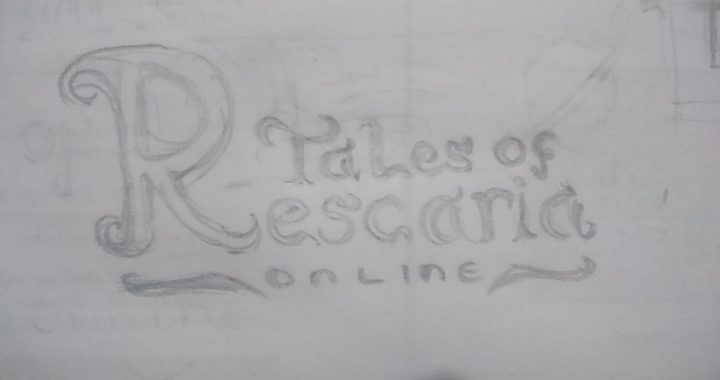 Sktech of the logo of Tales of Rescaria Online